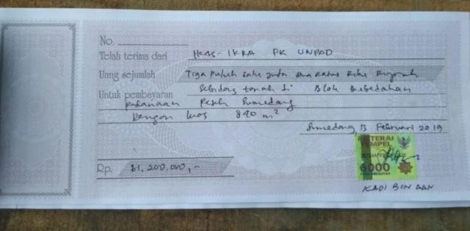 kwitansi bukti pembayaran