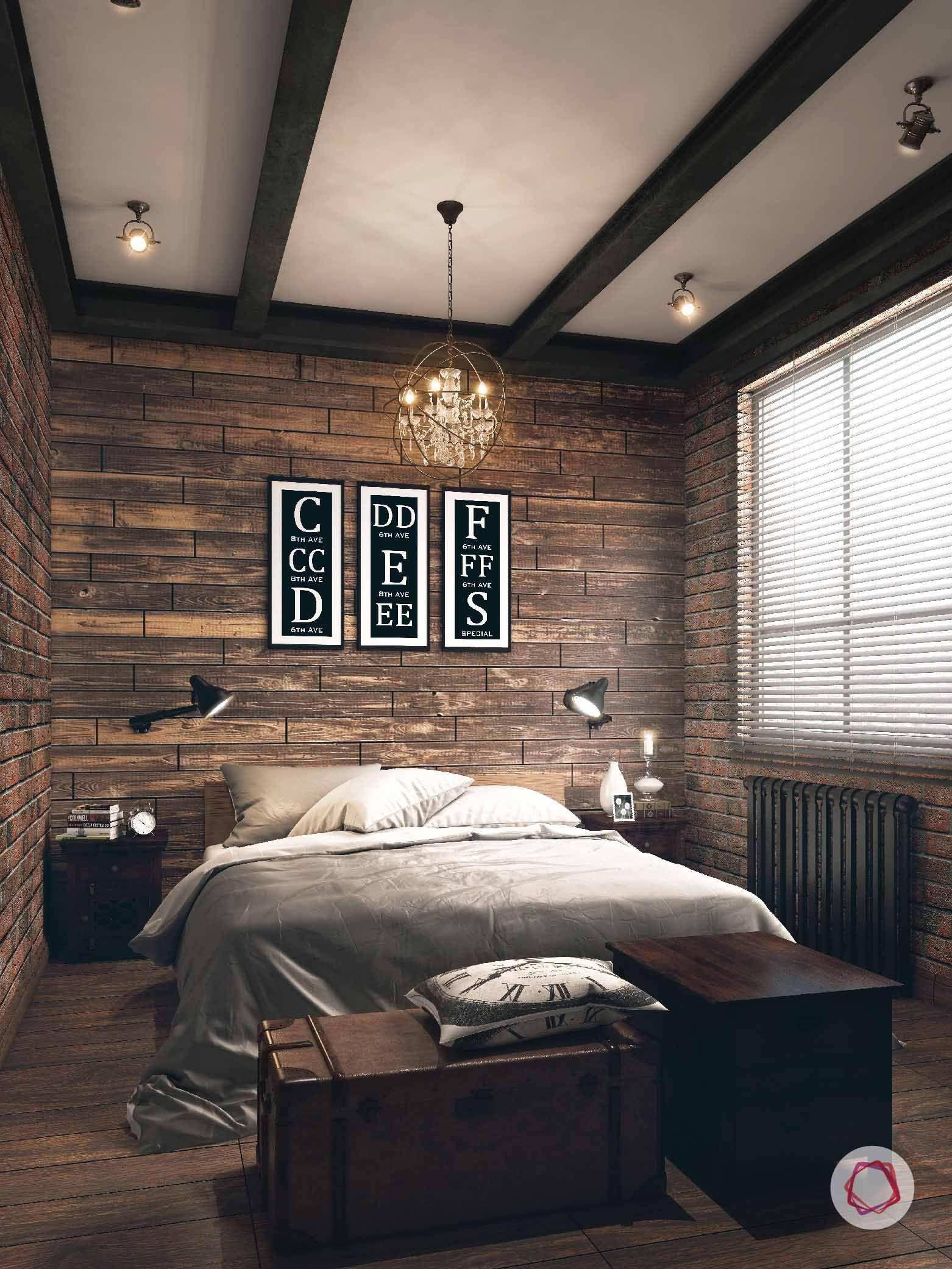 Desain kamar tidur dengan dekorasi uni