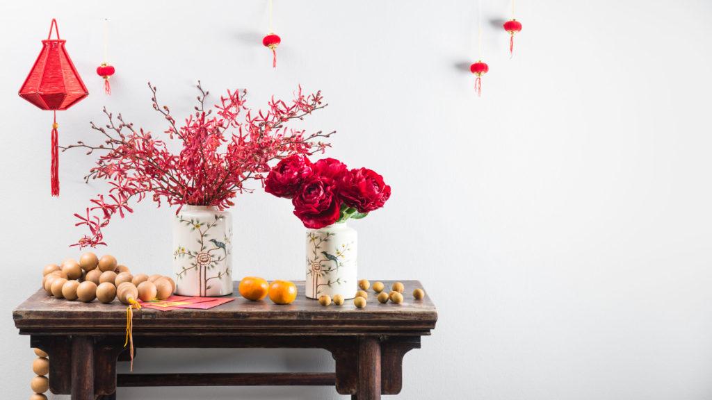 bunga warna merah