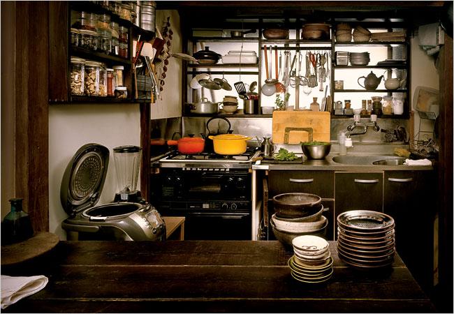 Dapur gelap sederhana