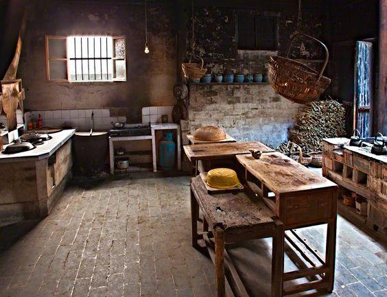 Dapur minimalis Tiongkok tradisional