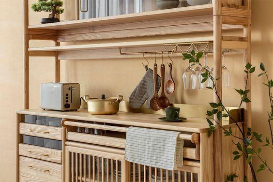 Gambar lemari dapur minimalis rotan