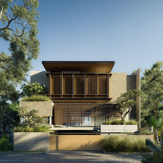 Rumah minimalis tropis hijau