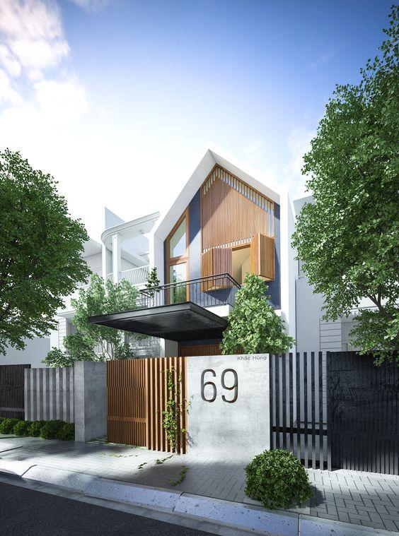 Desain rumah minimalis 2 lantai tropis di ruangan sempit