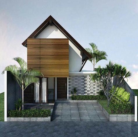Rumah minimalis 2 lantai kayu