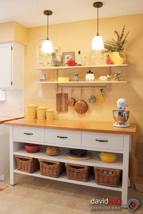 Dapur minimalis kuning unik