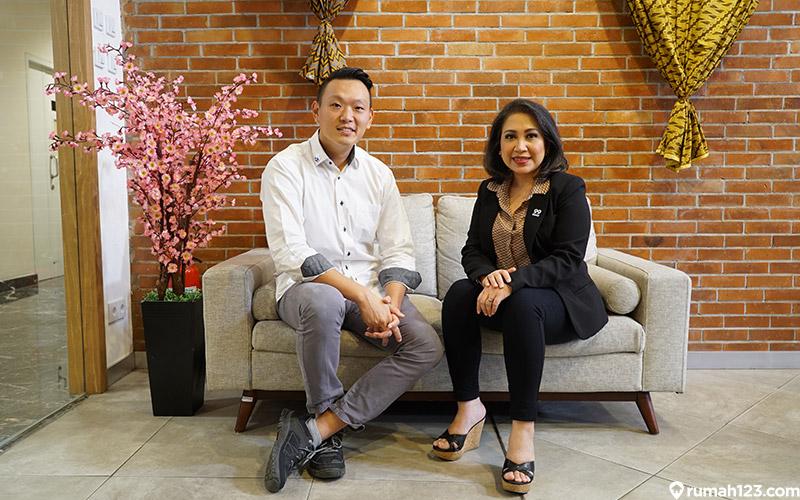 CEO 99 Group Indonesia Chong Ming Hwee dan Country Manager Rumah123 Maria Herawati Manik