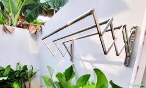6 Inspirasi Jemuran Dinding, Efektif untuk Rumah Sempit!