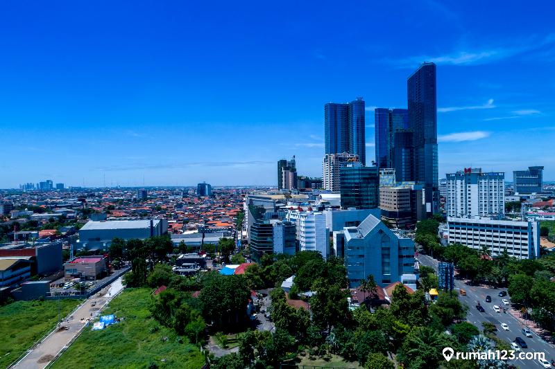 Kota Surabaya Aerial View