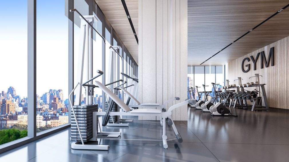 fasilitas apartemen area gym