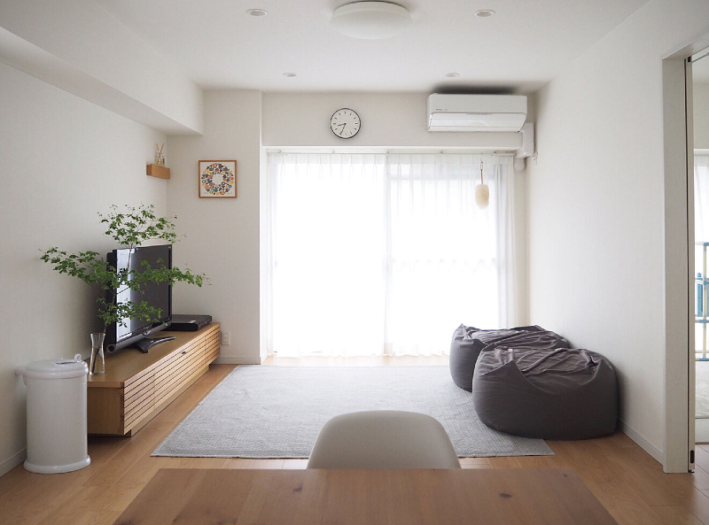 Ruang TV Minimalis Jepang