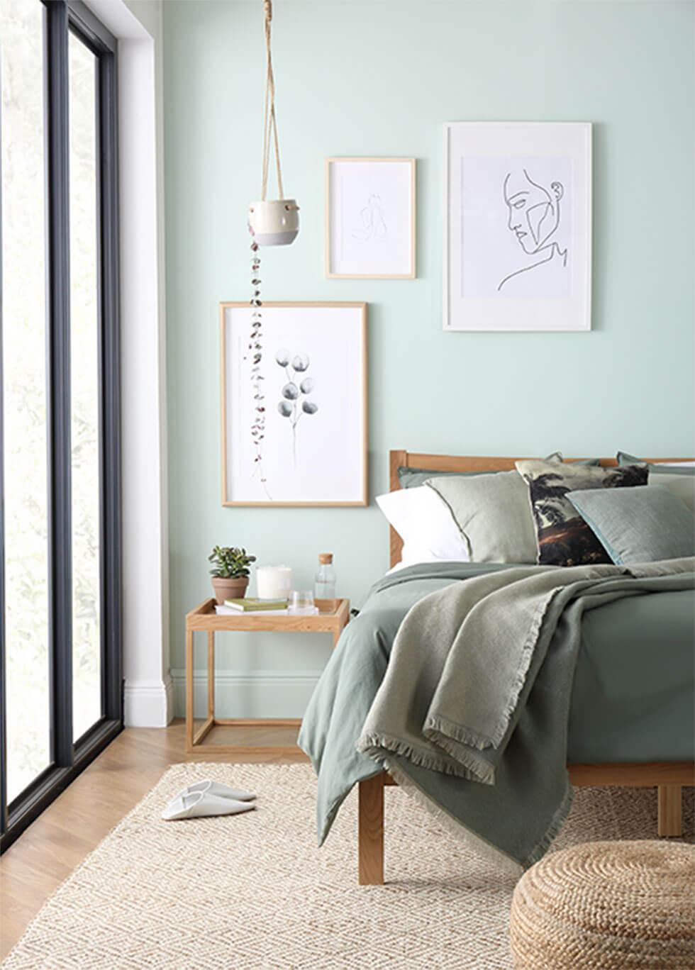 warna cat kamar hijau muda