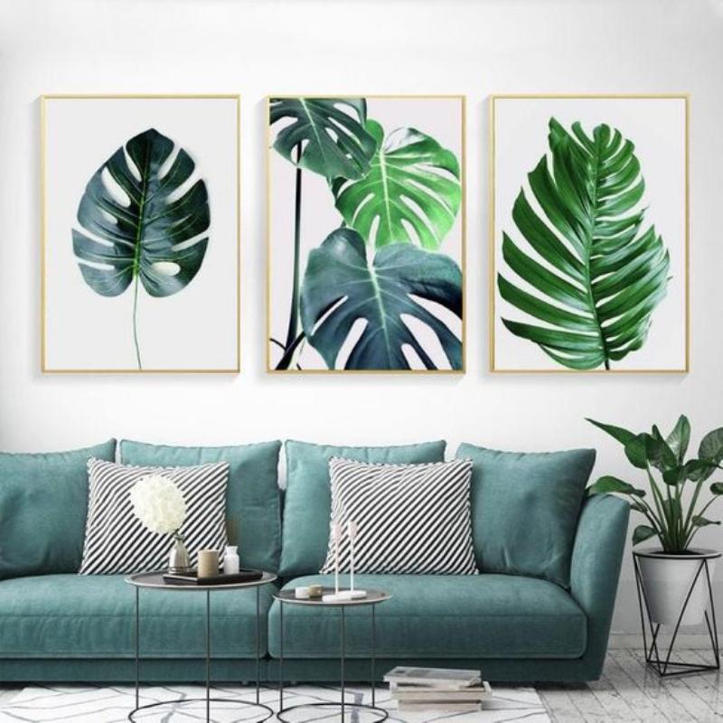 ruang keluarga minimalis nuansa hijau