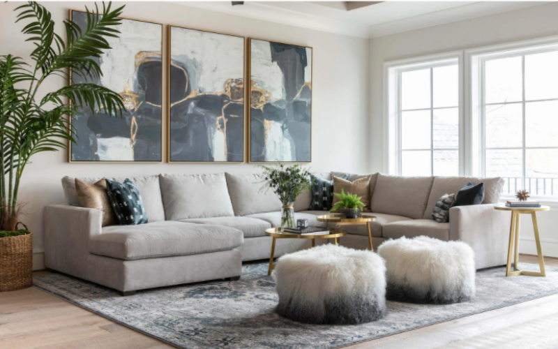 ruang keluarga modern tropis
