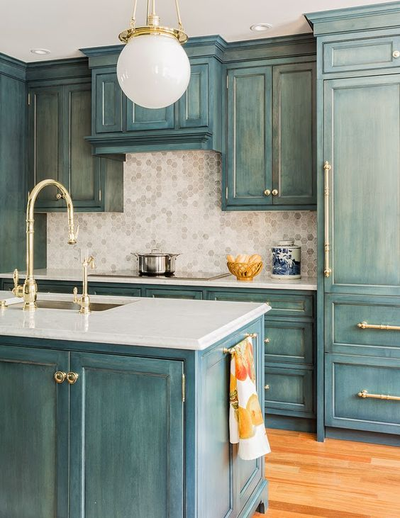 Gambar dapur minimalis hijau tosca