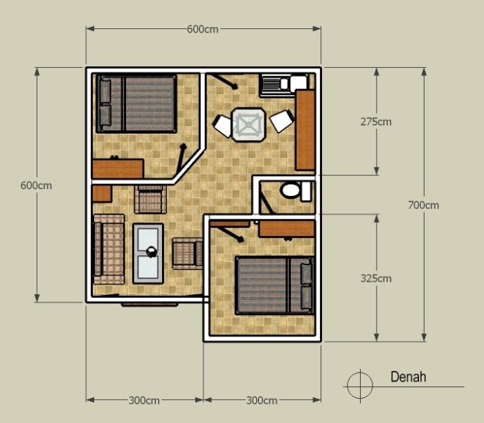 5 Contoh Desain Kontrakan 3x6 Dilengkapi Gambar Rumah123 Com