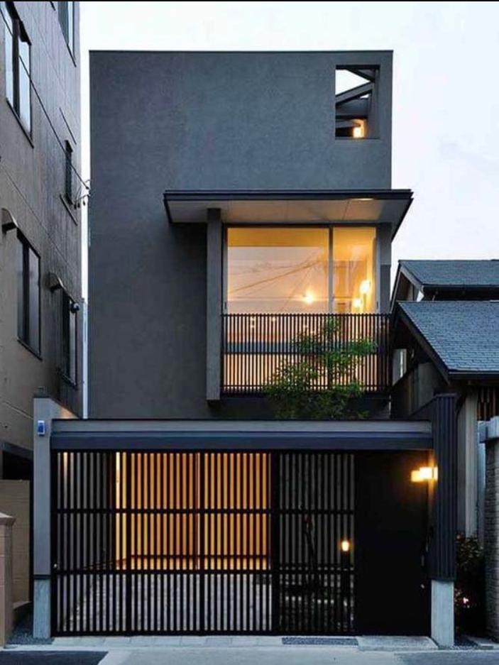 desain rumah minimalis monokrom 1