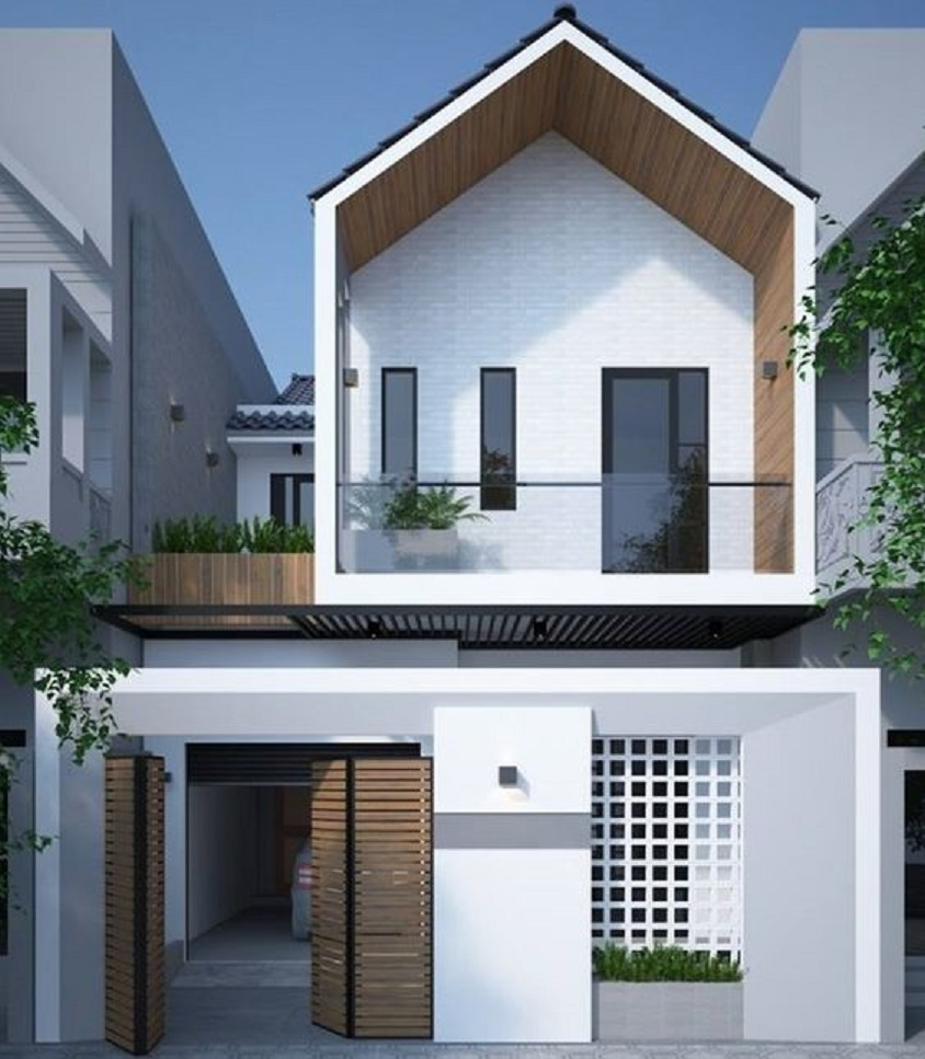 desain rumah minimalis monokrom 2