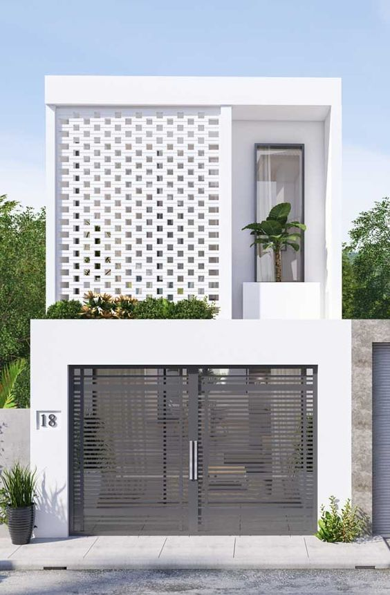 desain rumah minimalis monokrom 6