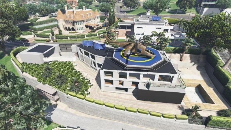 Desain rumah mewah GTA