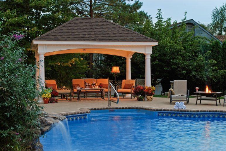 outdoor rumah paviliun