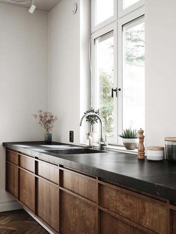 Rak dapur minimalis kayu