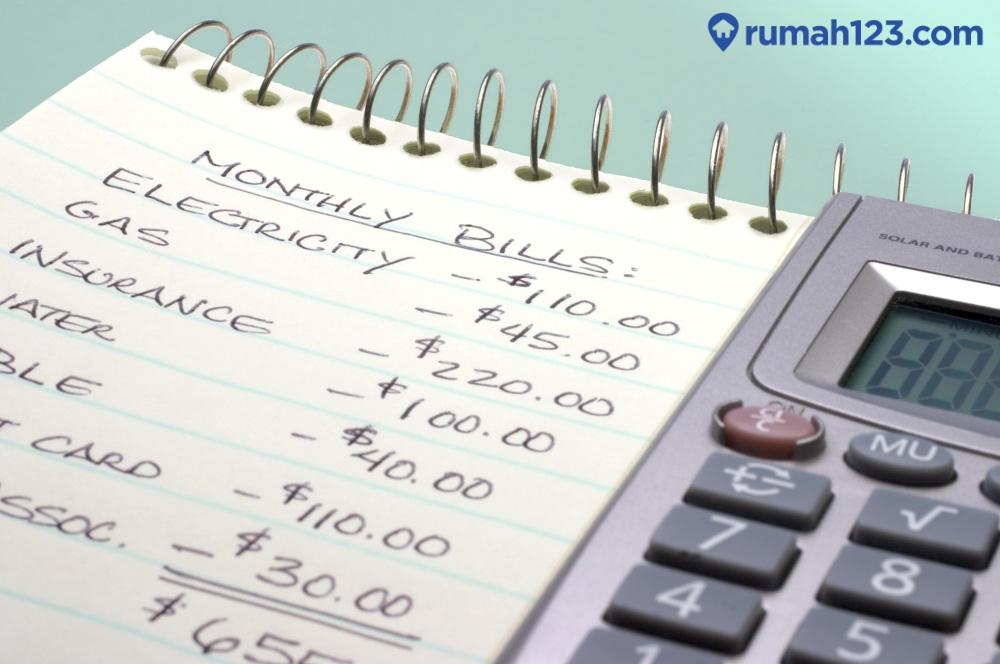 rincian biaya bulanan
