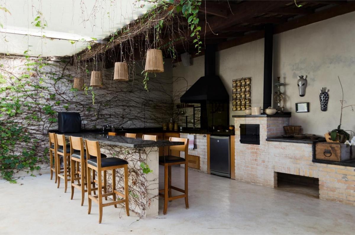 dapur terbuka konsep bar