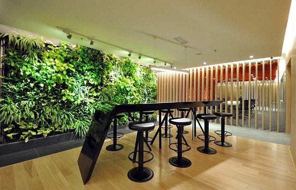 menata interior kantor suasana alam