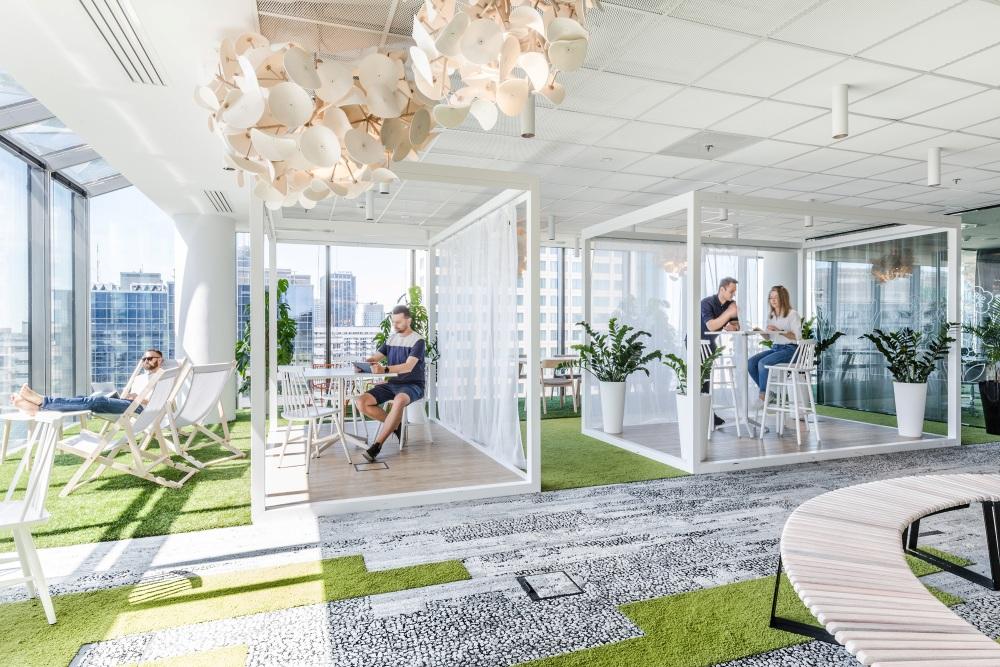 ruang kantor lanskap