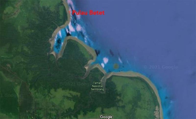 pulau betet sumatera tenggelam