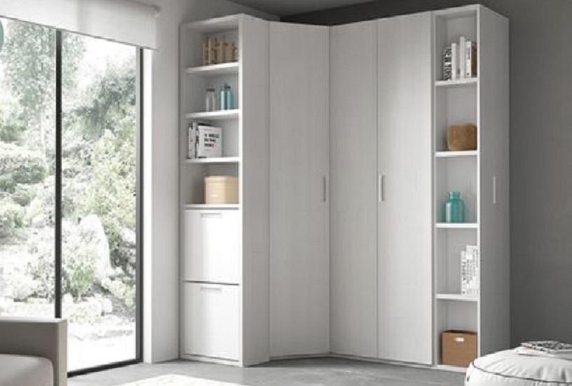 lemari sudut minimalis