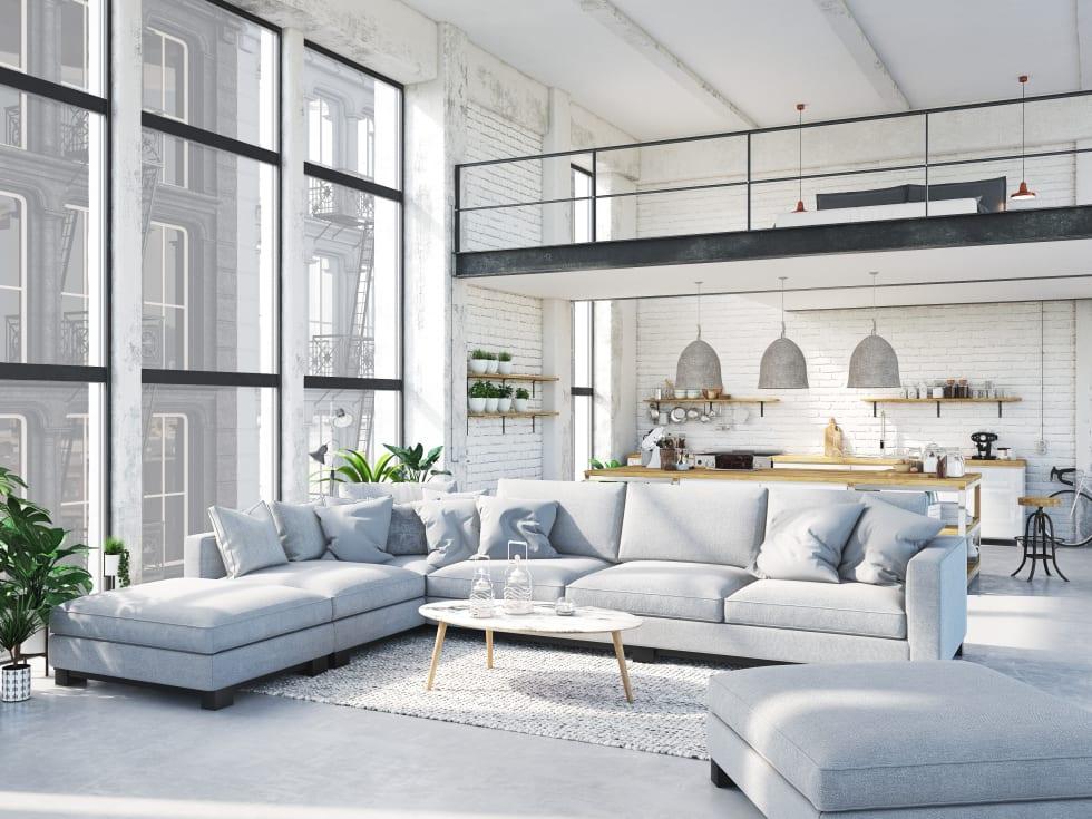 Apartemen Tipe Loft modern white