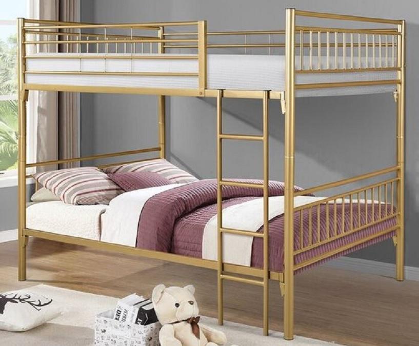 tempat tidur tingkat besi