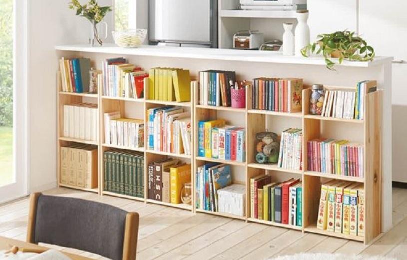 lemari buku minimalis