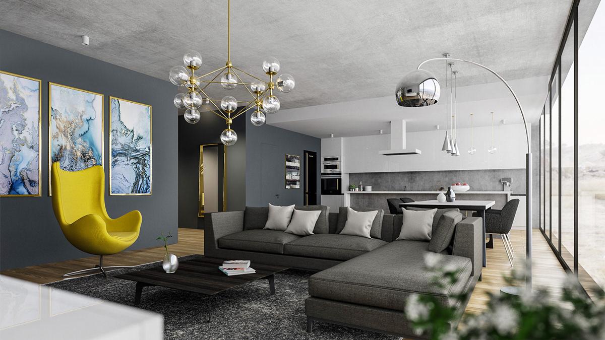 Apartemen Minimalis Modern