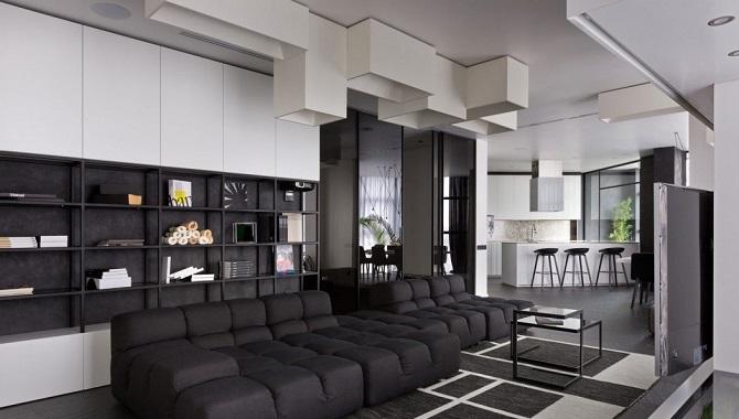 Apartemen Minimalis Modern Hitam