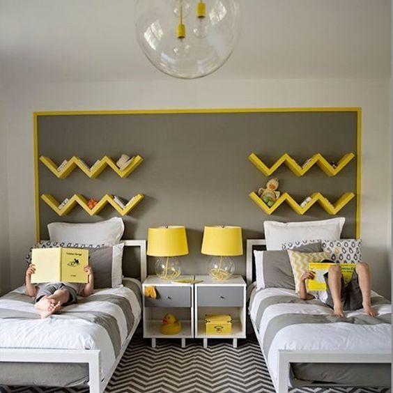 kamar tidur nuansa kuning