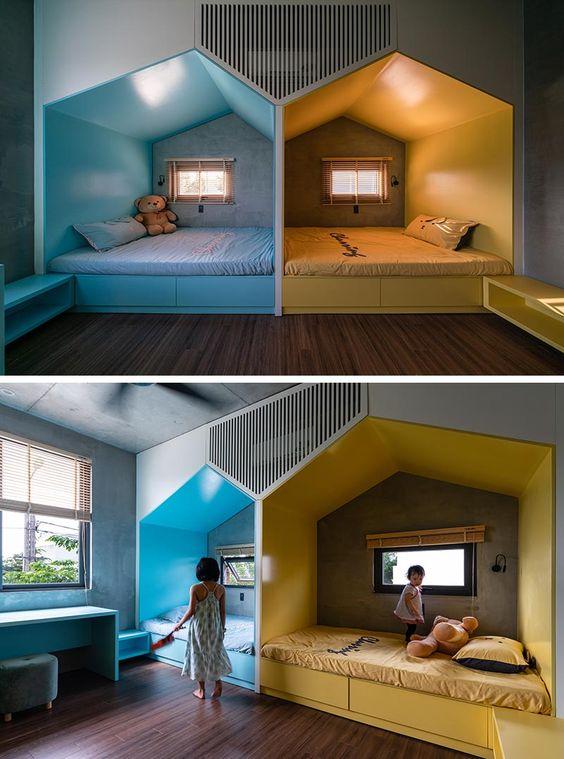 kamar tidur dengan privasi