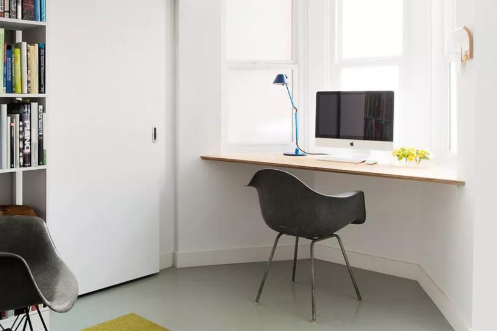 desain ruang kerja sudut