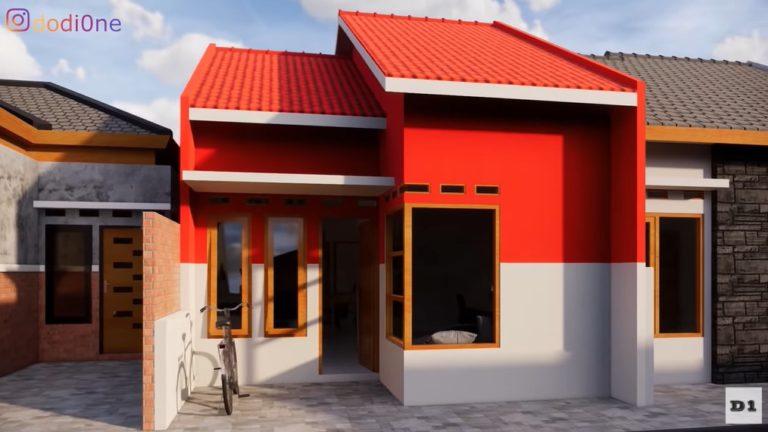 Intip Desain Rumah Sederhana 5x12 Meter dengan 3 Kamar Tidur