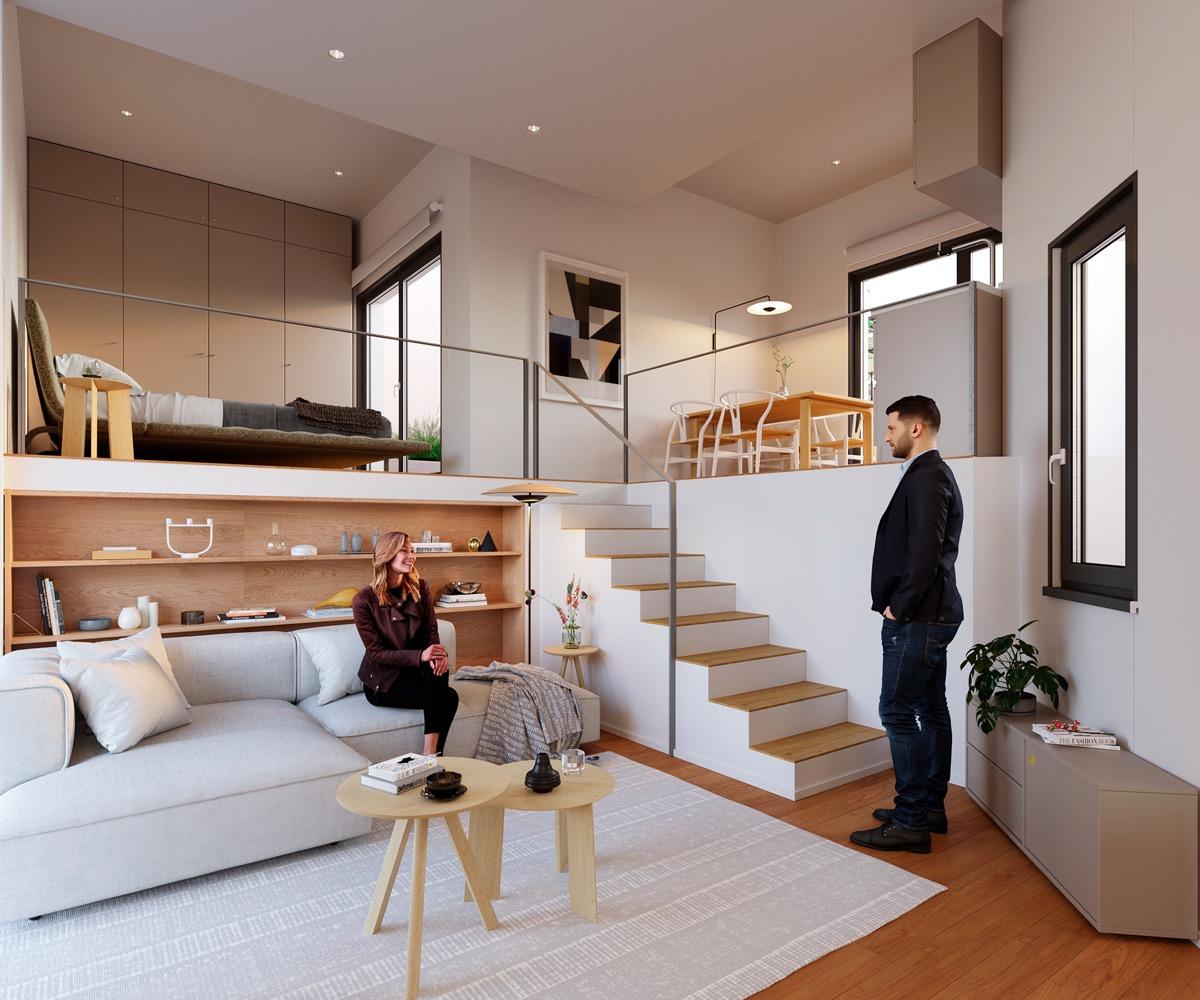 split level rumah kecil mewah