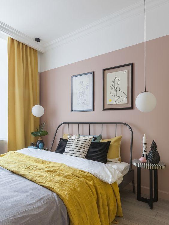 Kamar Tidur Minimalis Pink_2