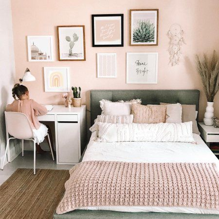 Kamar tidur minimalis Pink_3