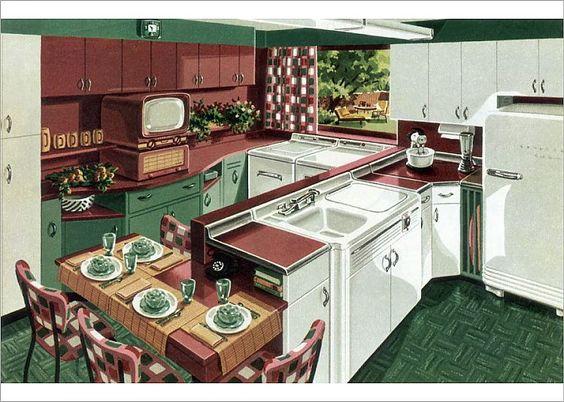 Model dapur minimalis Merah Maroon_1