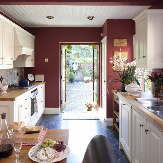 Model dapur minimalis Merah Maroon_2