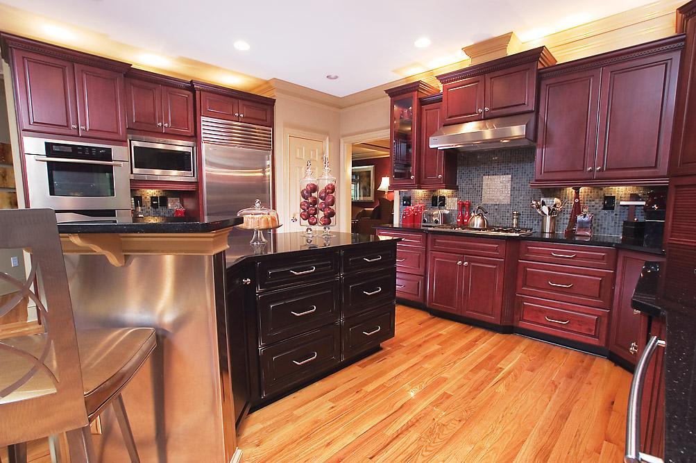 Model dapur minimalis Merah Maroon_3