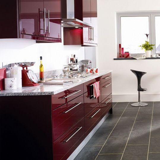 Model dapur minimalis Merah Maroon_5