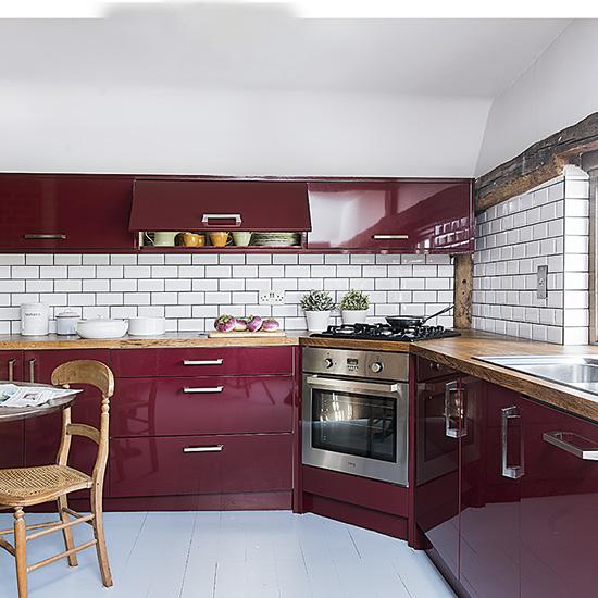 Model dapur minimalis Merah Maroon_6