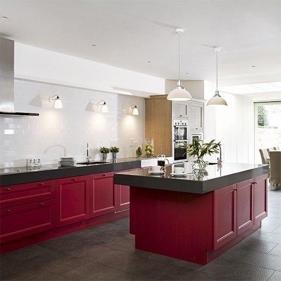 Model dapur minimalis Merah Maroon_10